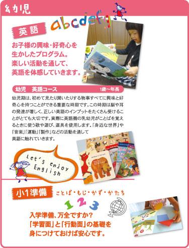 幼児コースのイメージ